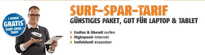 klarmobil Surf-Spar-Tarif