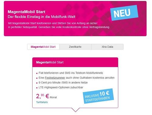 T Mobile Magentamobil Start D1 Prepaidde